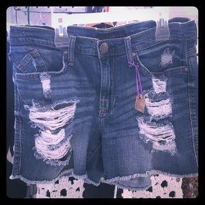 Denim shorts. Size 10